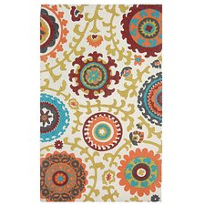 <strong>Safavieh</strong> Cedar Brook Ivory / Orange Floral Rug