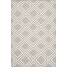 Dhurries Grey / Ivory Moroccan Rug