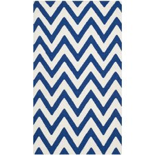 Dhurries Dark Blue/Ivory Rug