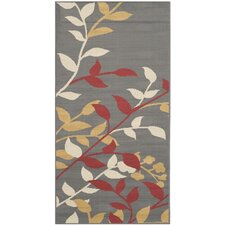 Hampton Dark Grey / Rust Outdoor Rug