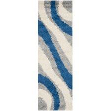 Shag Grey / Blue Rug