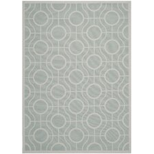 Courtyard Aqua / Light Grey Rug