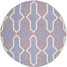 Dhurries Purple/Multi Rug