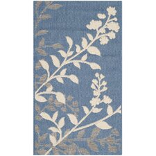 <strong>Safavieh</strong> Courtyard Blue / Beige Rug