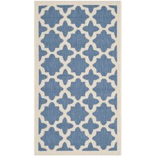 Courtyard Blue/Beige Outdoor Area Rug