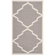 Dhurries Grey/Ivory Outdoor Rug