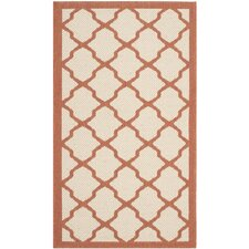 Courtyard Beige / Terracotta Outdoor Rug