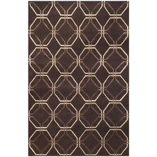 Tibetan Brown Geometric Rug
