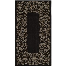 Courtyard Black/Sand Outdoor Rug