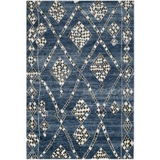 Moroccan Blue / Black Rug