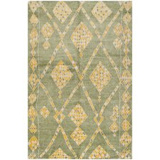 Moroccan Green / Multi Colored Rug
