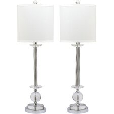 "Marla Candlestick 31"" H Table Lamp with Drum Shade (Set of 2)"