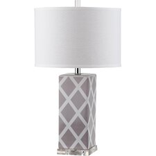 "Garden Lattice 27"" H Table Lamp with Drum Shade (Set of 2)"