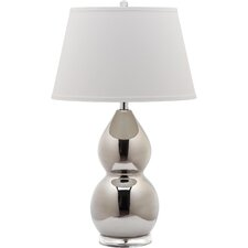 "Jill Double Gourd 25.5"" H Table Lamp with Empire Shade"