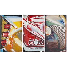 Auto Legends 3 Piece Painting Print on Canvas Set