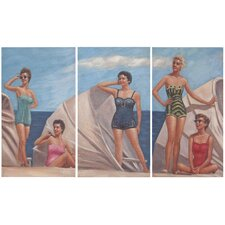 By The Sea 3 Piece Painting Print on Canvas Set