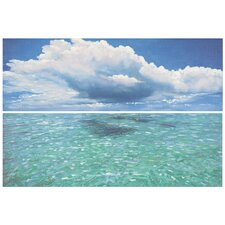 Caribbean Seas 2 Piece Painting Print on Canvas Set