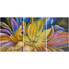 Petalista 3 Piece Painting Print on Canvas Set