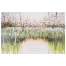 Enchanted Forest 2 Piece Painting Print on Canvas Set