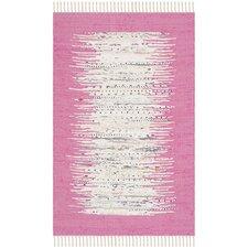 Montauk Ivory / Pink Contemporary Rug