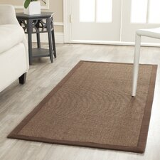 Natural Fiber Brown Contemporary Rug