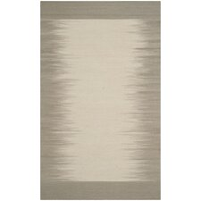 Kilim Beige / Light Green Contemporary Rug