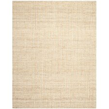 Natural Fiber Contemporary Ivory Area Rug