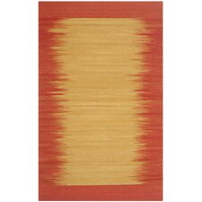 Kilim Rust Contemporary Rug
