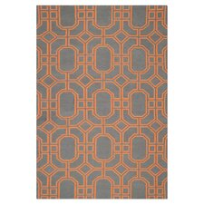 Dhurries Blue/Orange Rug