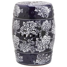 Midnight Flower Garden Stool