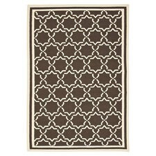 Dhurries Chocolate/Ivory Cross Rug