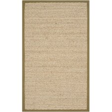 Natural Fiber Natural/Light Olive Area Rug