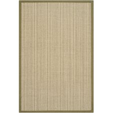 Natural Fiber Green Border Rug