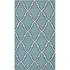 Dhurries Blue/Ivory Area Rug