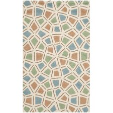 Newport Blue / Green Geometric Rug