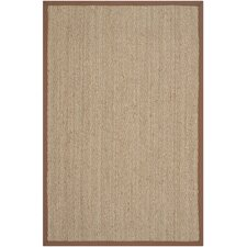 Natural Fiber Natural/Light Brown Area Rug
