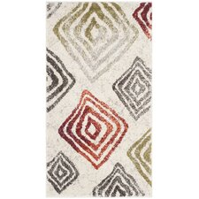 Porcello Ivory / Green Geometric Rug