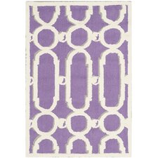 Newport Purple/White Geometric Area Rug