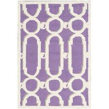 Newport Purple / White Geometric Rug