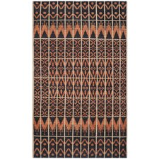 Kenya Orange / Black Contemporary Rug