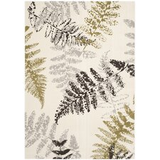 Porcello Ivory / Light Grey Floral and Plant Rug