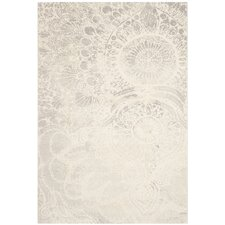 Porcello Light Grey / Ivory Contemporary Rug