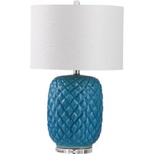 "Chaney 25.25"" H Table Lamp with Drum Shade"