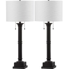 "Estilo 35.25"" H Table Lamp with Drum Shade (Set of 2)"