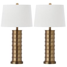 "Linus 28.5"" H Table Lamp with Drum Shade (Set of 2)"