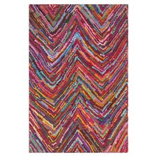 Nantucket Pink Abstract Area Rug