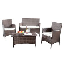 Manning 4 Piece Lounge Seating Group with Cushions