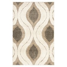 Florida Cream & Smoke Shag Rug