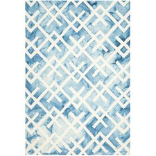 Dip Dye Blue & Ivory Area Rug