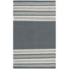 Dhurries Dark Gray Area Rug